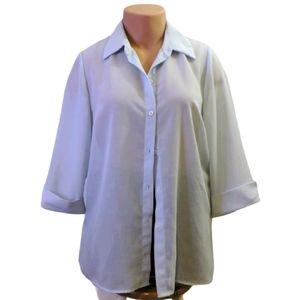 Addition Elle semi transparent button up shirt 14